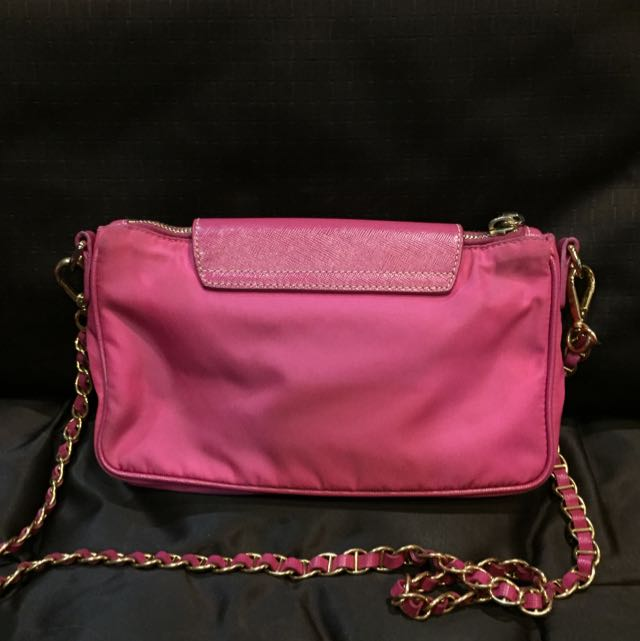 e40e2091c0f7 100% Authentic PRADA Fuschia Hot Pink Sling Bag