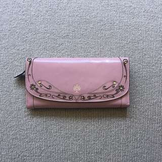 Star Town Vintage Hand Made Leather Purse (Pink)
