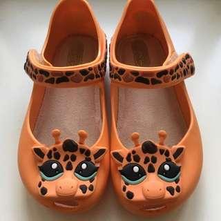 ⚡️RESERVED⚡️Authentic Mini Melissa Orange Giraffe Size US9