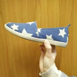 藍底星星懶人鞋