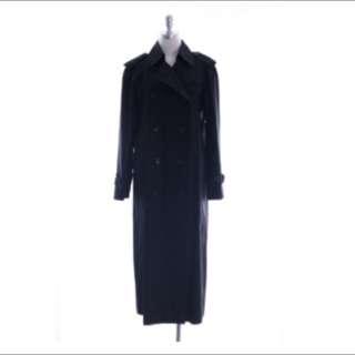 Burberry  大衣 黑色軍裝外套 長版大衣(降)