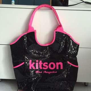(含郵)kitson 黑色亮片包包