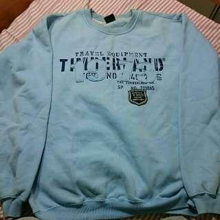 Timberland藍色圖案大學T