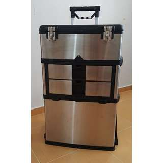 BN Stainless Steel Portable Toolbox With 3 Separate Compartments Storage