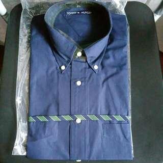 Brand New, Tommy Hilfiger, Size 15 Half, Dark Blue Dress Shirt