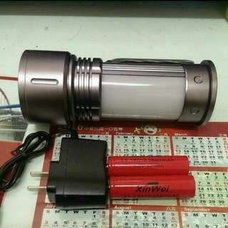 LED三段式強光手電筒