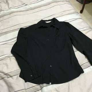 TOPSHOP黑色長襯衫