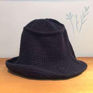 針織漁夫帽 深藍色