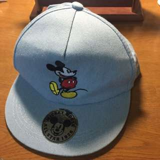 迪士尼 米老鼠 Micky Mouse牛仔布淺藍棒球帽
