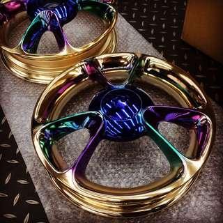 Gogoro 輪框 噴鍍 彩鈦 客製 訂做 交換