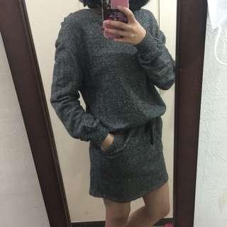 休閒口袋洋裝