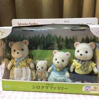 森林家族 北極熊家族 4隻ㄧ組