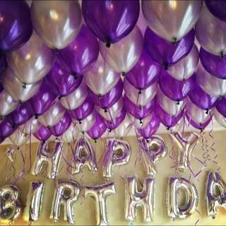 Purple Themed Foil Balloon Party