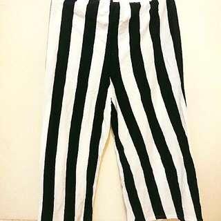 💮(全新)顯瘦條紋棉寬褲
