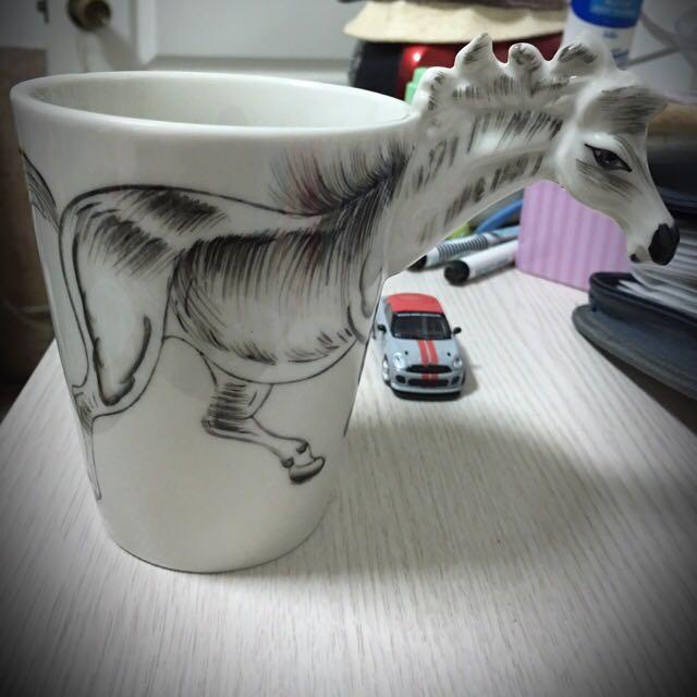 3D立體造型杯/白馬造型/ 送禮。生日。交換禮物。限量一個