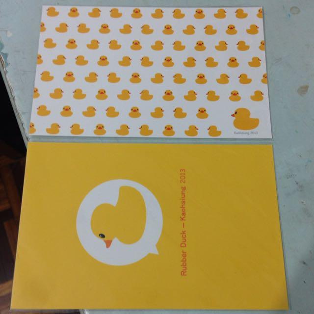 黃色小鴨明信片