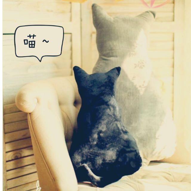 ➰背影貓咪抱枕➰