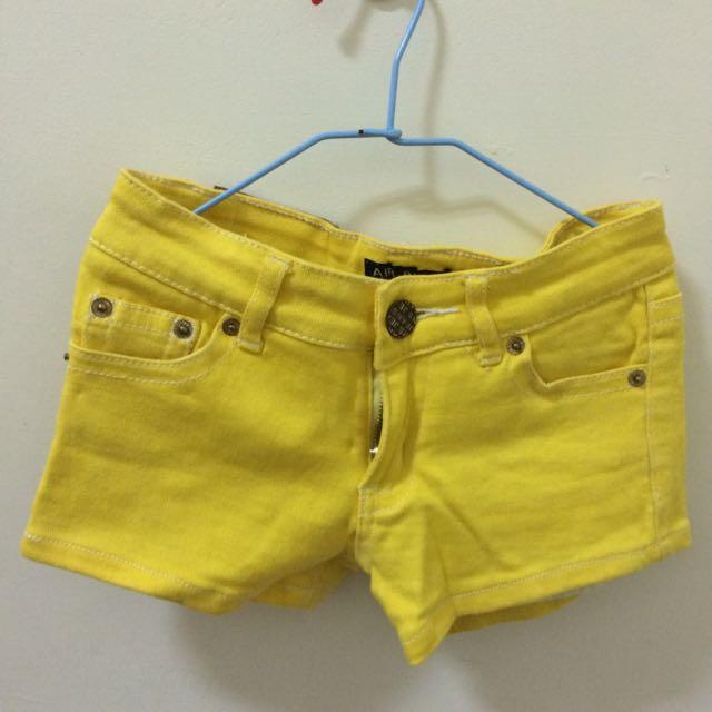 螢光黃吊帶褲