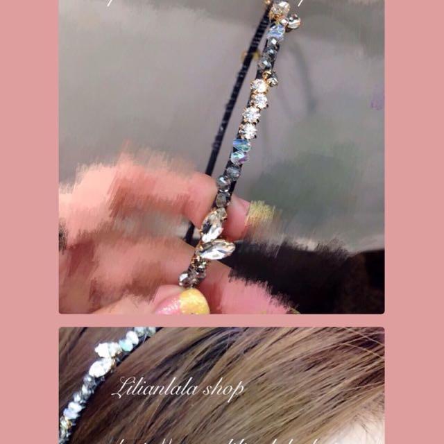 韓國 精緻水鑽 髮圈🎉