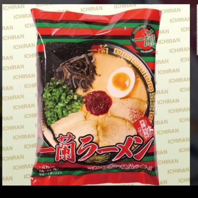 ㄧ蘭拉麵 福岡本店帶回 泡麵