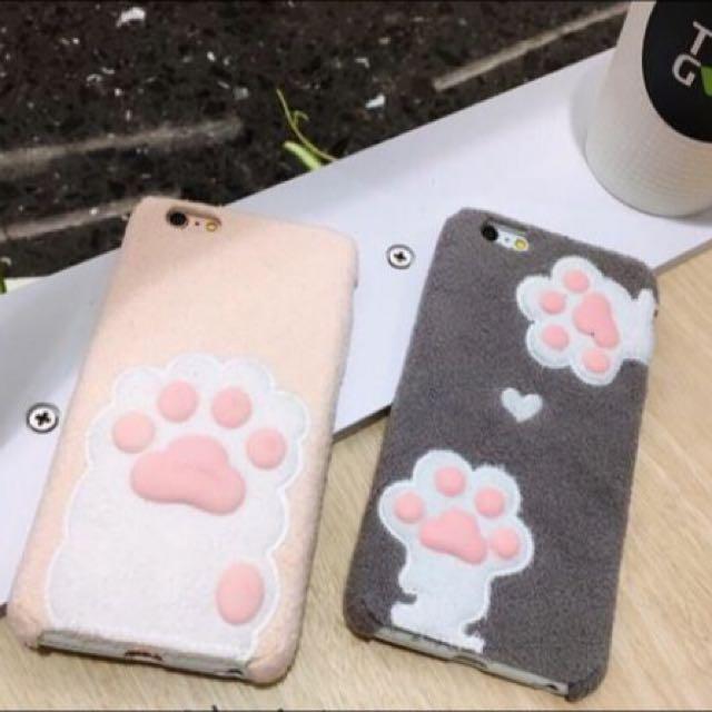 現貨+預購 貓咪 肉球 絨毛 Iphone 軟殼
