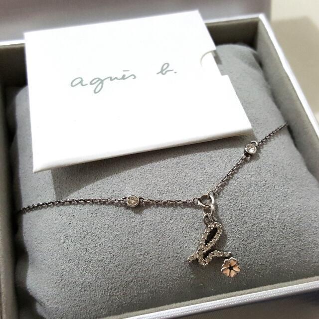 agnès b. 🌸 小花鑲鑽手鍊