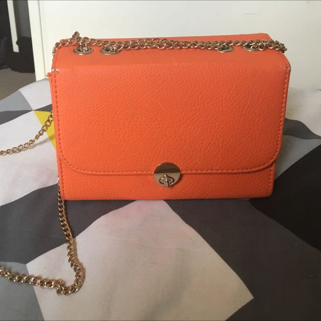 Orange Boxy Bag
