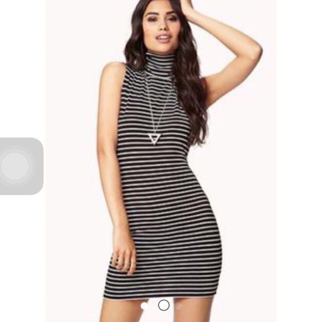 dfa545ac7d Factorie Black And White Stripes Dress