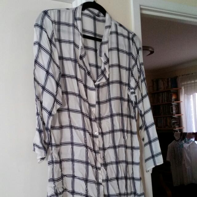 Flowy Viscose Shirt M-L