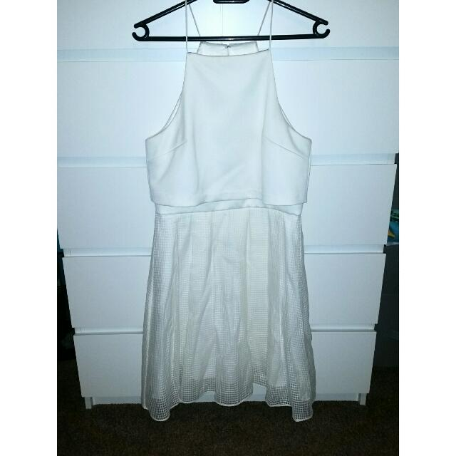 FOREVER NEW Jessica Burnout Prom Dress Sz 10 Porcelain