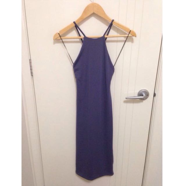 High-Neck Mid-Length Dress