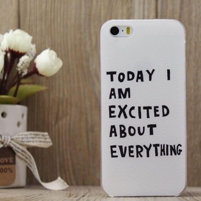 🆕英文字iphone6/6s 手機殼🎈 Today I'm excited about everything! 😂