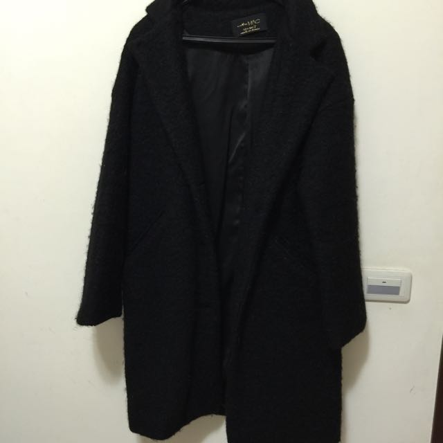 MAC羔羊毛大衣 黑色 二手商品
