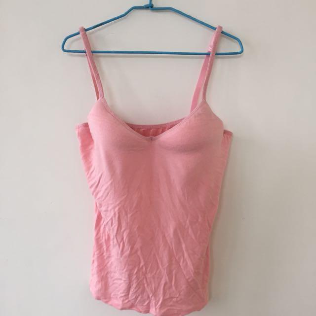 全新粉色Modal BraT背心
