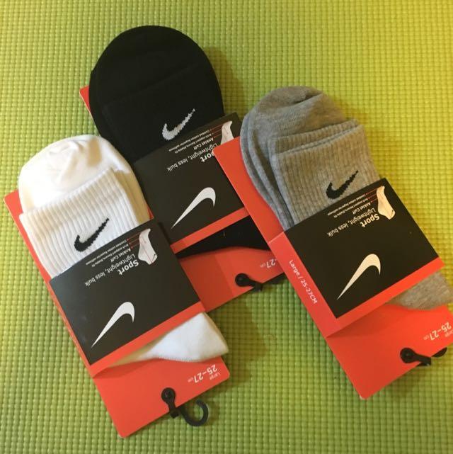 Nike 襪子 打勾勾 現貨 黑 灰