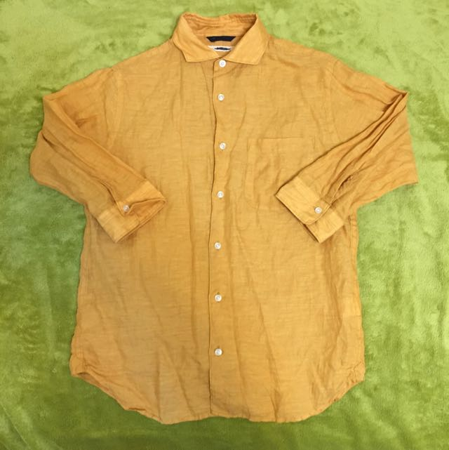 日牌urban research 淺褐色麻質襯衫