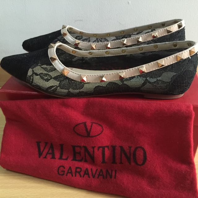 Valentino Lace Flat Shoes