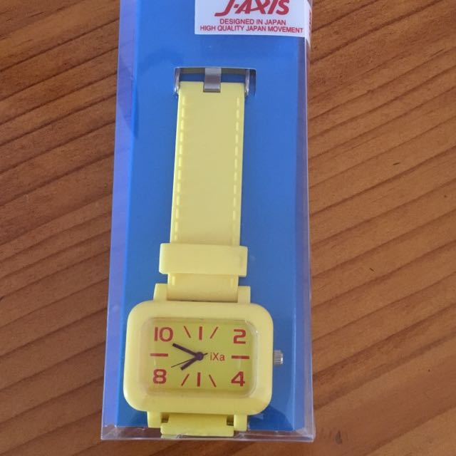 Yellow Plastic Watch