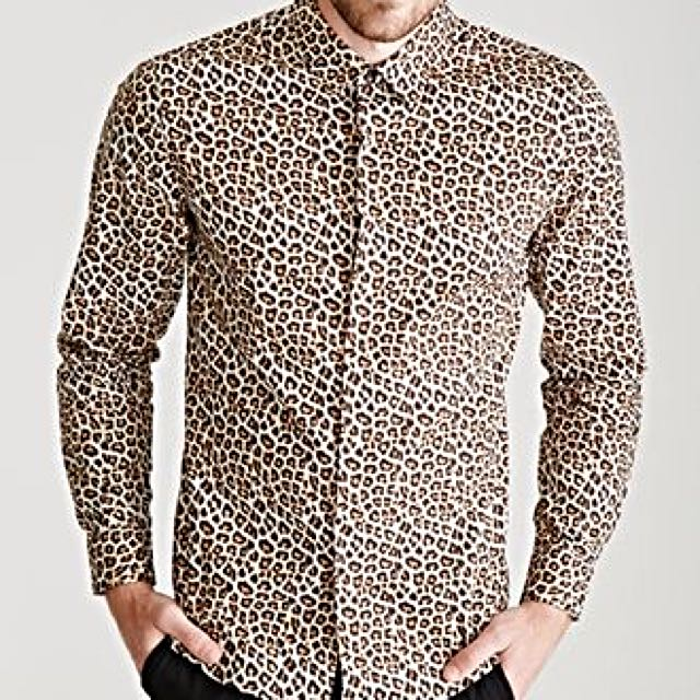 65e1ee8e2abd Zara men leopard print shirt, Men's Fashion on Carousell