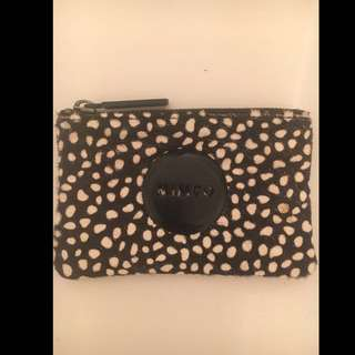 MIMCO - small black and white print pouch
