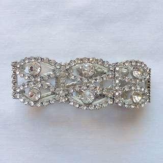 Silver Jewelled Bracelet