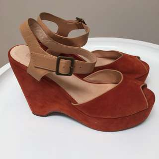 Gorman Burnt Orange Wedges