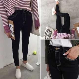 韓版修身顯瘦牛仔褲