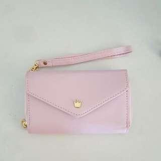 降價!!全新 粉紅小包/錢包 可裝手機
