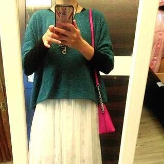專櫃ginkoo購入 針織 湖水綠短衫