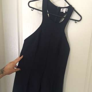 Navy Racerback Playsuit Size L