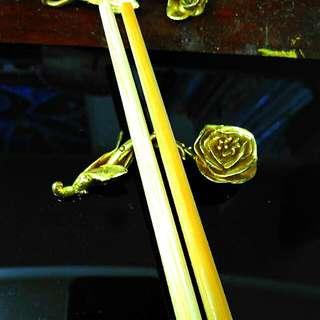 手作黃銅筷子架