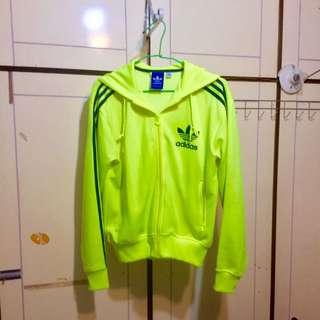 Adidas愛迪達螢光棉外套原價$1850