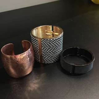 3 X Cuff Bracelets