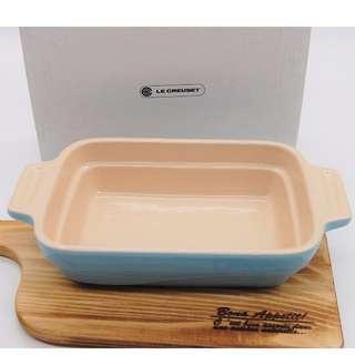 le creuset【現貨有盒】日本帶回 天空藍 長方瓷器烤盤